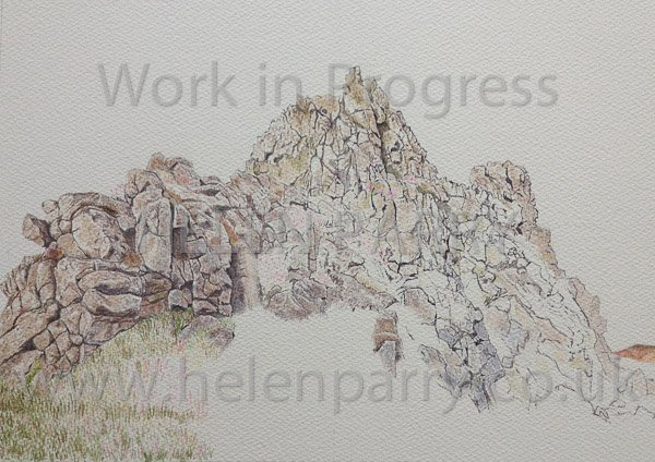 Sixth stage Devil's Chair watercolour