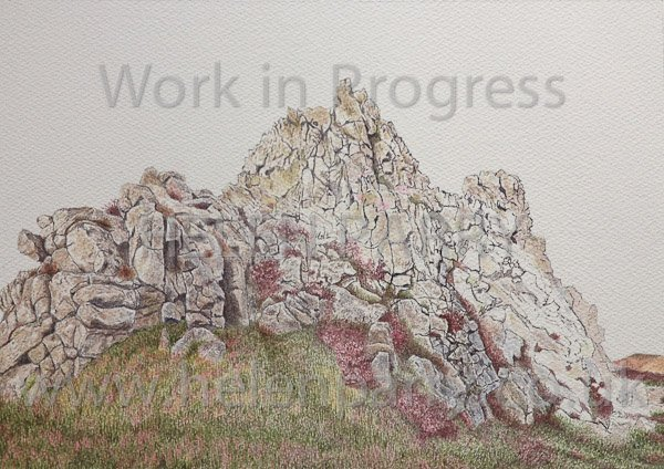 Seventh stage Devil's Chair watercolour