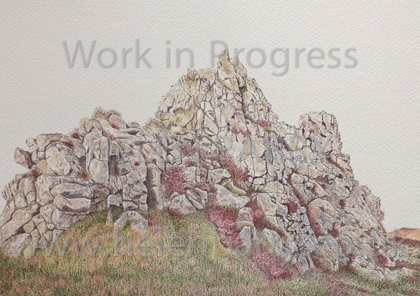 Eighth stage Devil's Chair watercolour