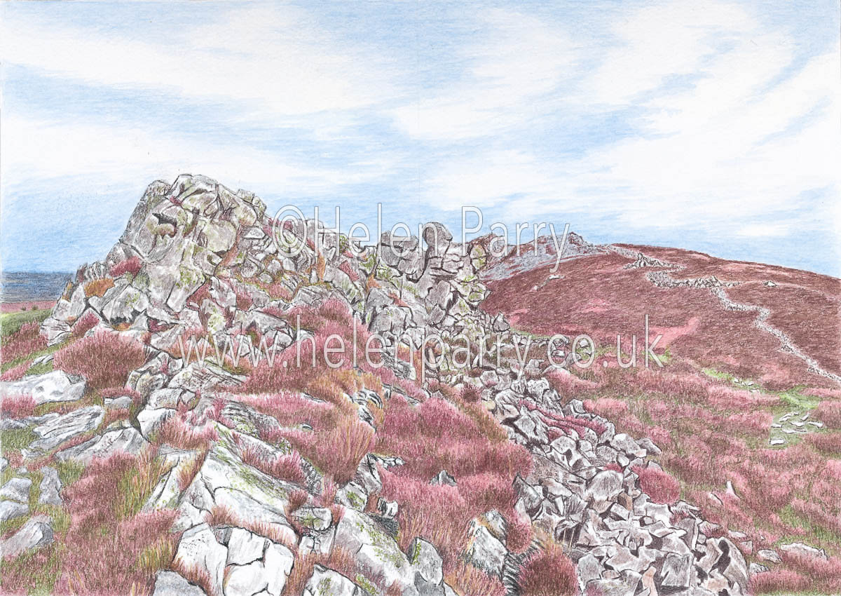 fine art print of the stiperstones ridge in Shropshire