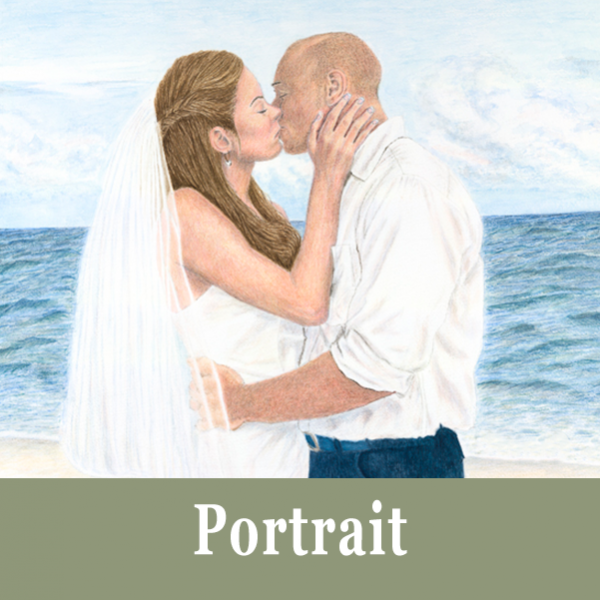 Portrait Commissions for a Watercolour Painting by Helen Parry