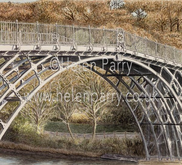 fine art print of the Iron Bridge in Shropshire