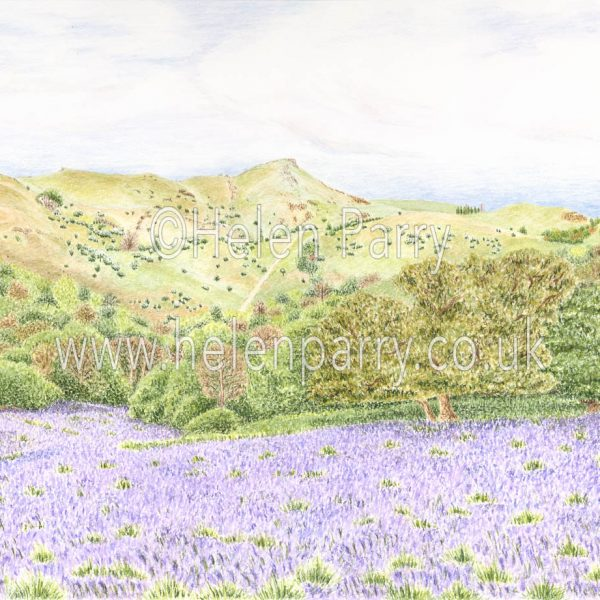 watercolour painting of Caer Caradoc Shropshire