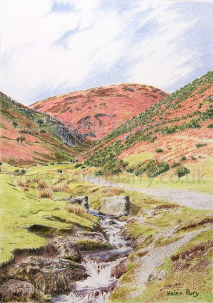 Carding Mill Valley landscape painting by Helen Parry