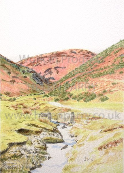 Fourth stage Carding Mill Valley watercolour