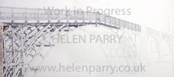 First stage Iron Bridge watercolour