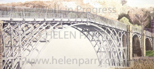 Sixth stage Iron Bridge watercolour