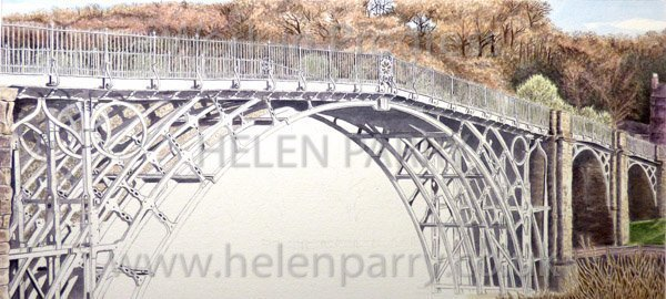 Seventh stage Iron Bridge watercolour