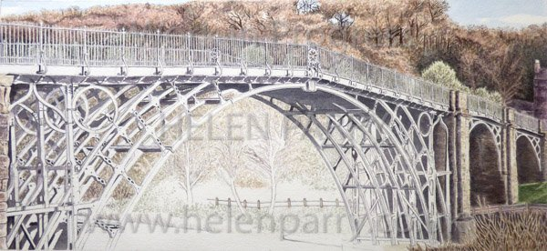 Eighth stage Iron Bridge watercolour
