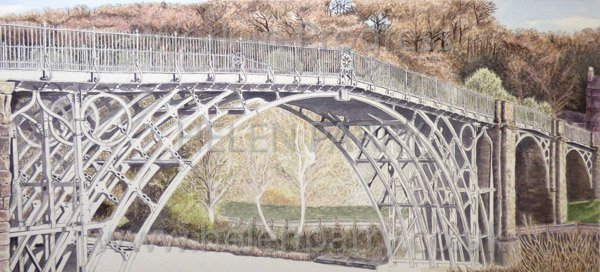Ninth stage Iron Bridge watercolour