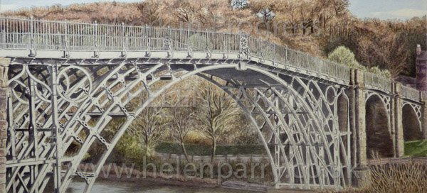 Tenth stage Iron Bridge watercolour