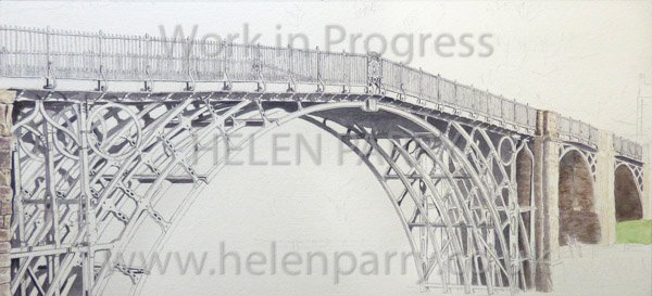 Fourth stage Iron Bridge watercolour