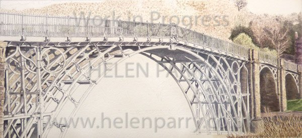 Fifth stage Iron Bridge watercolour