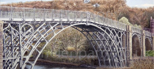 Iron Bridge watercolour painting by Helen Parry