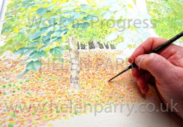 Third stage Tree Canopy watercolour