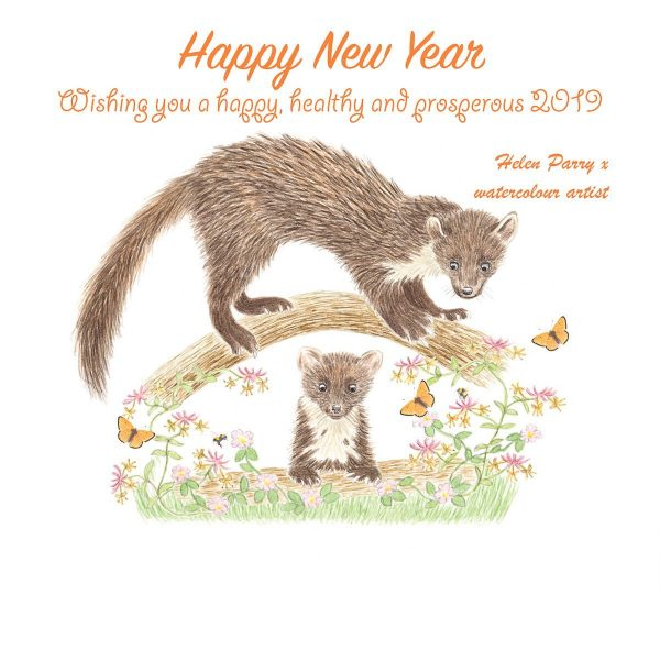 Pine marten new year message