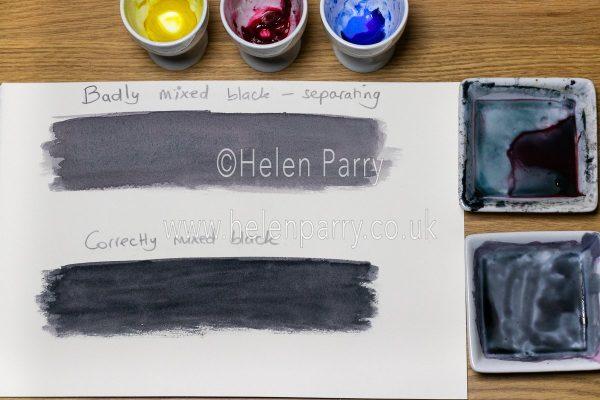 Black Watercolour Mix - Helen Parry Watercolour Artist