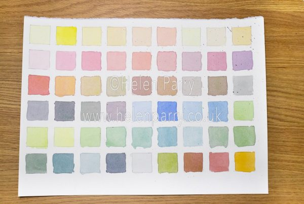 Mixing Watercolours Full Swatch - Helen Parry Watercolour Artist